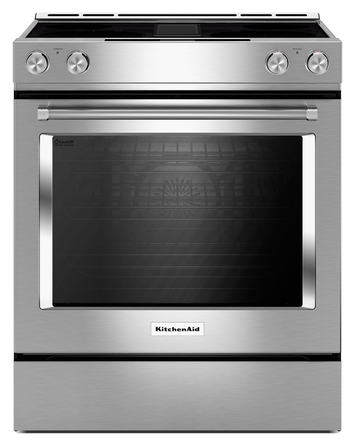 Cooking Products - KitchenAid 6.4 Cu. Ft. Downdraft Electric Range – Stainless Steel