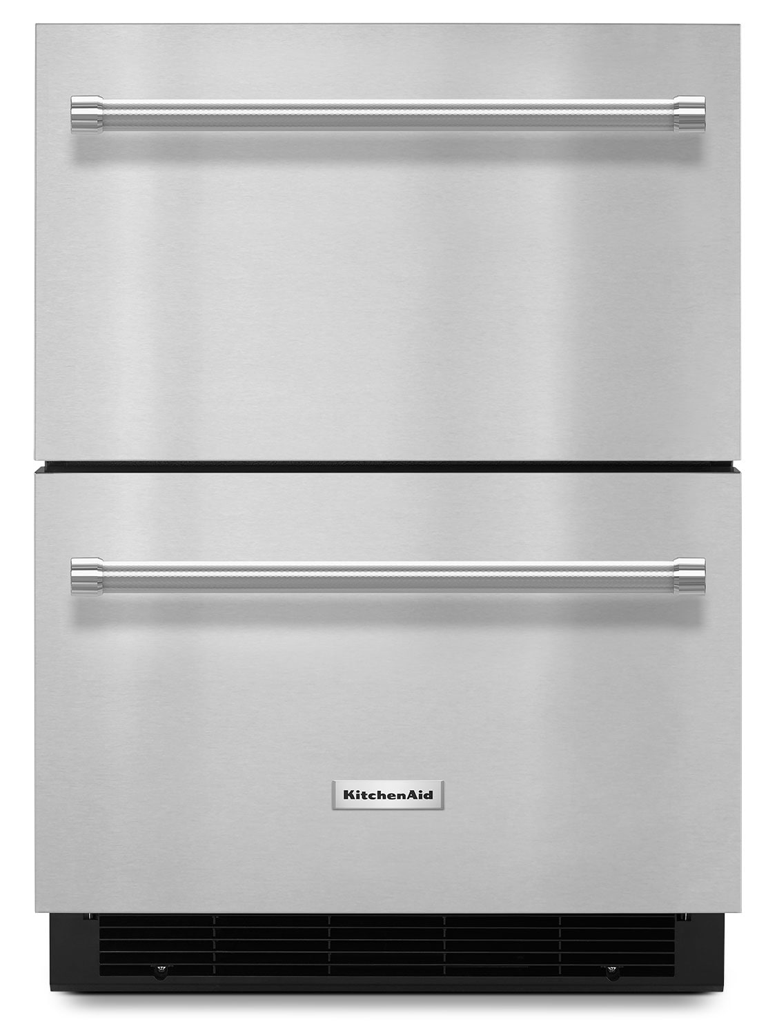 """Refrigerators and Freezers - KitchenAid 24"""" Double Refrigerator Drawer – Stainless Steel"""