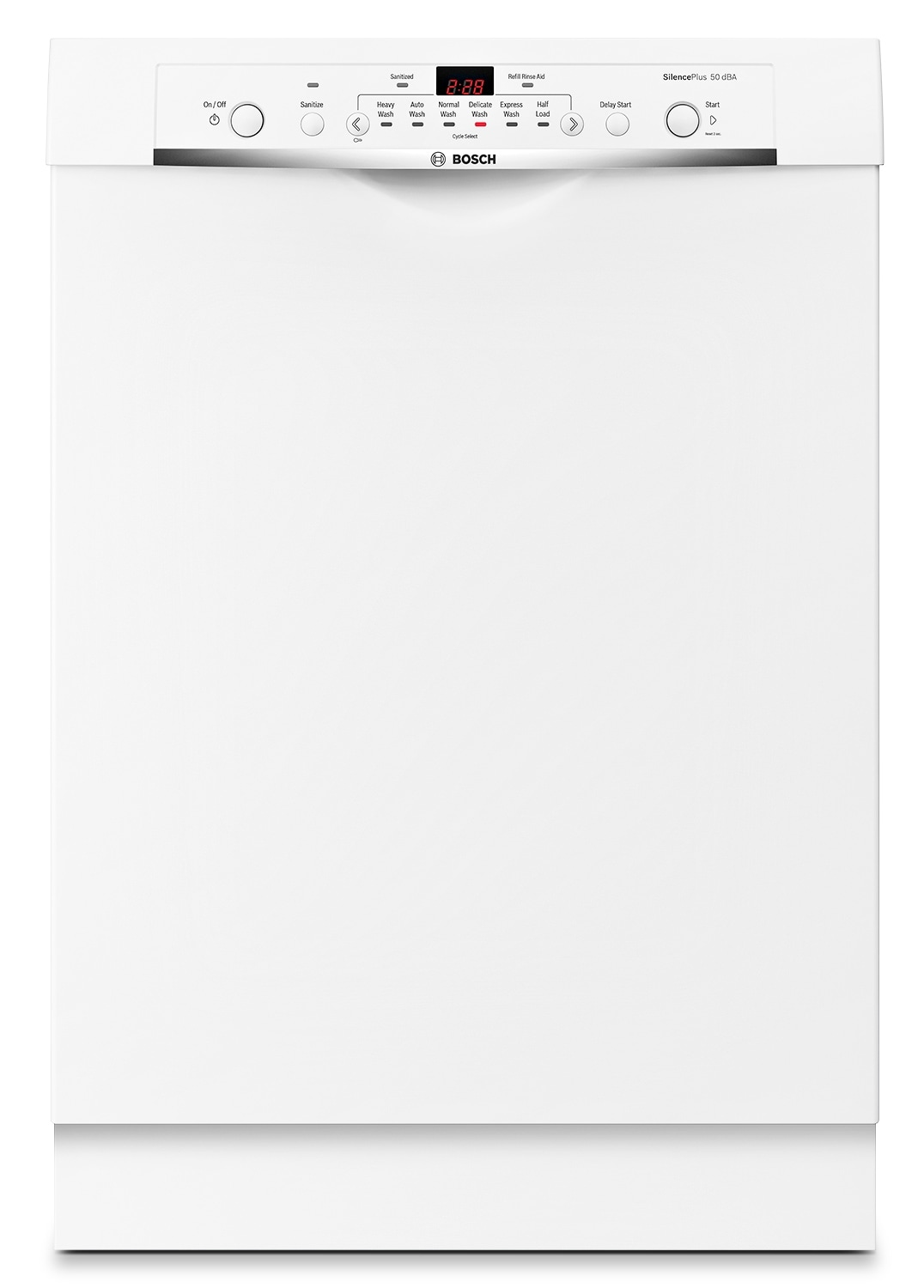 "Bosch Ascenta 23.5"" Built-In Undercounter Dishwasher - White"