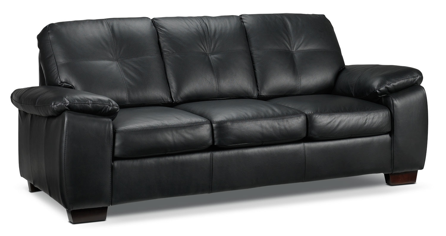 Living Room Furniture - Naples Sofa - Black