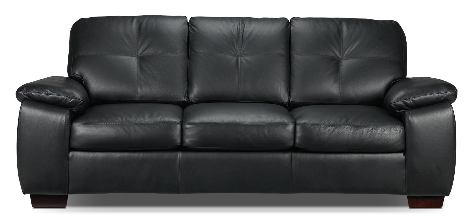 Naples sofa black leon 39 s for Tv lounge sofa