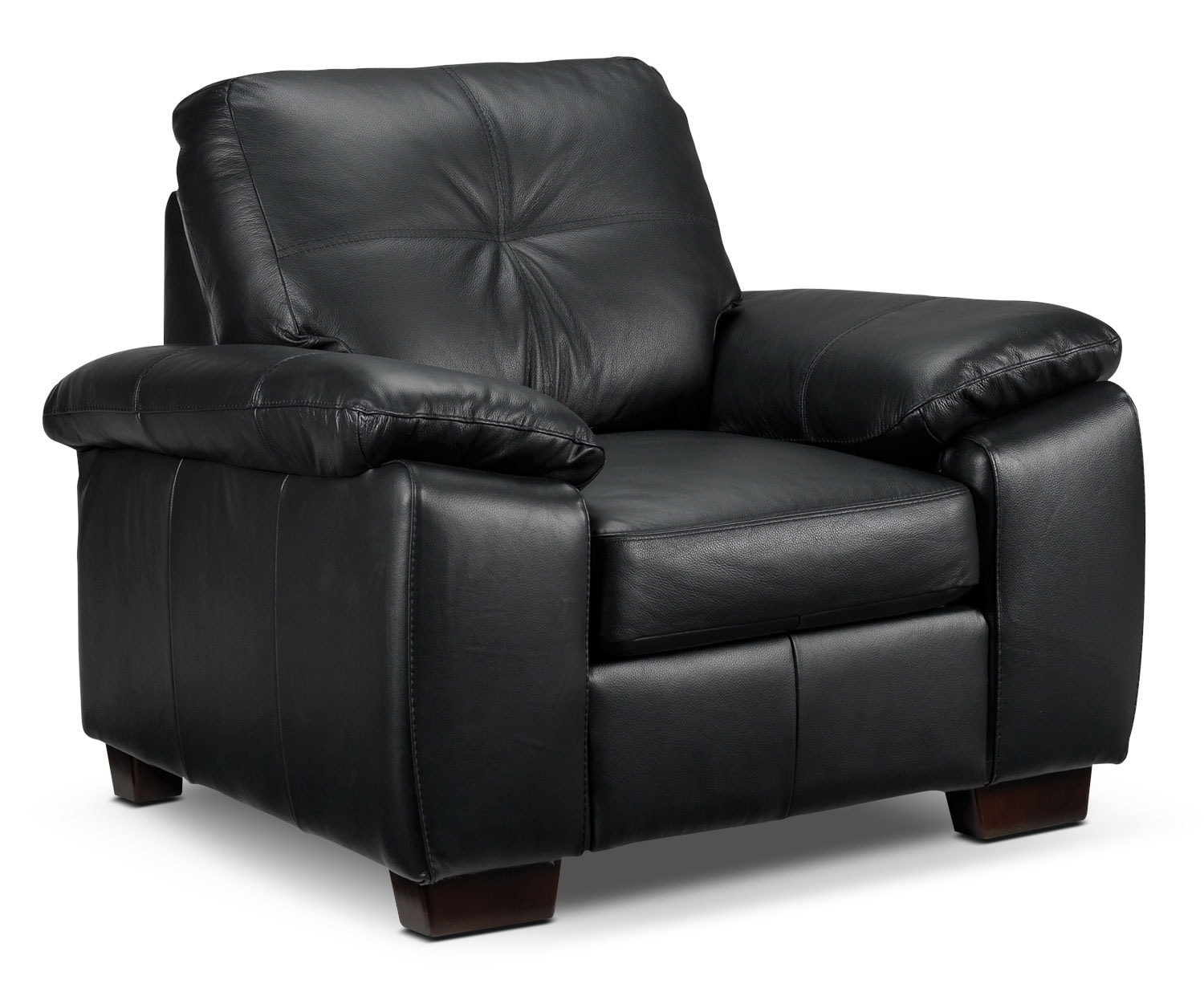 Living Room Furniture - Naples Chair - Black