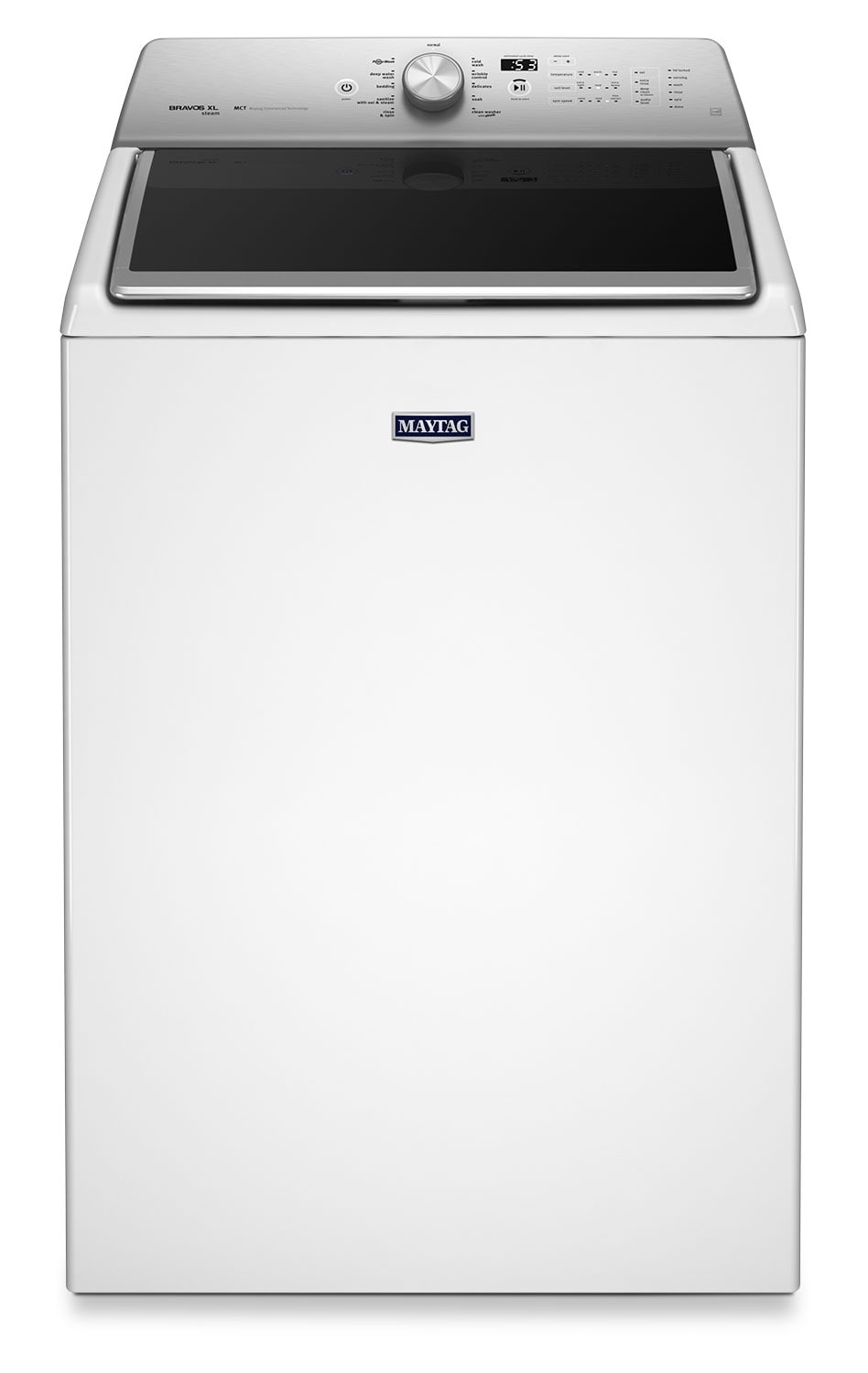 Washers and Dryers - Maytag 6.1 Cu. Ft. Top-Load Steam Washer – White