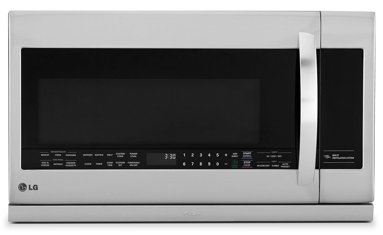 Cooking Products - LG Appliances Stainless Steel Over-the-Range Microwave (2.2 Cu. Ft.) - LMV2257ST