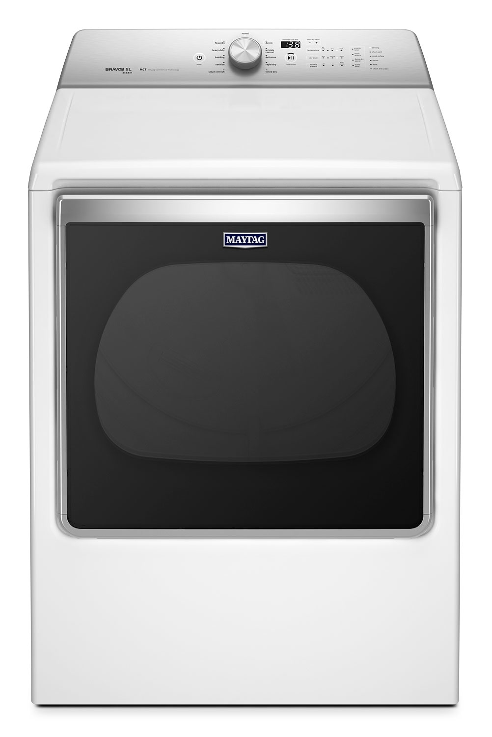 Washers and Dryers - Maytag 8.8 Cu. Ft. Top-Load Gas Dryer with Steam Refresh – White