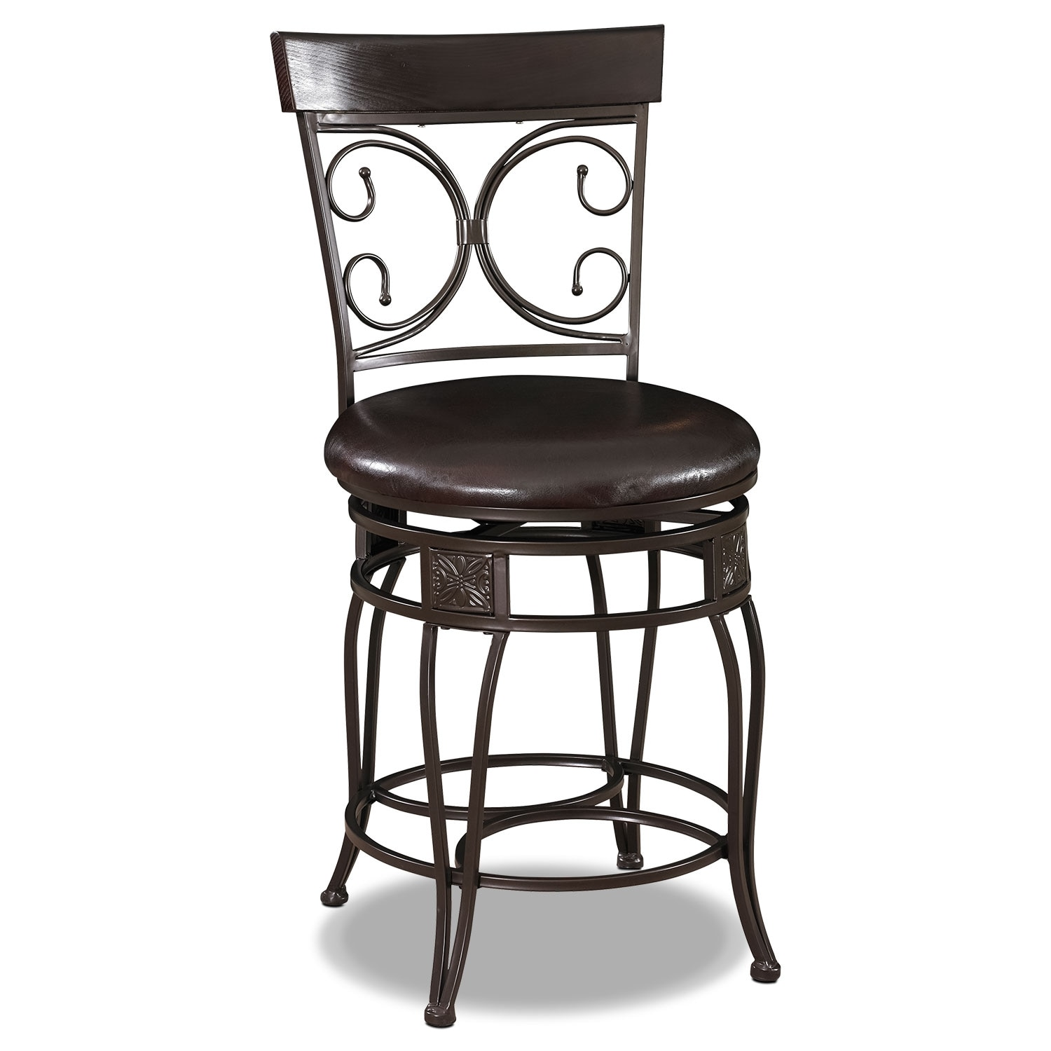 Grandview Counter Height Stool Black Value City Furniture