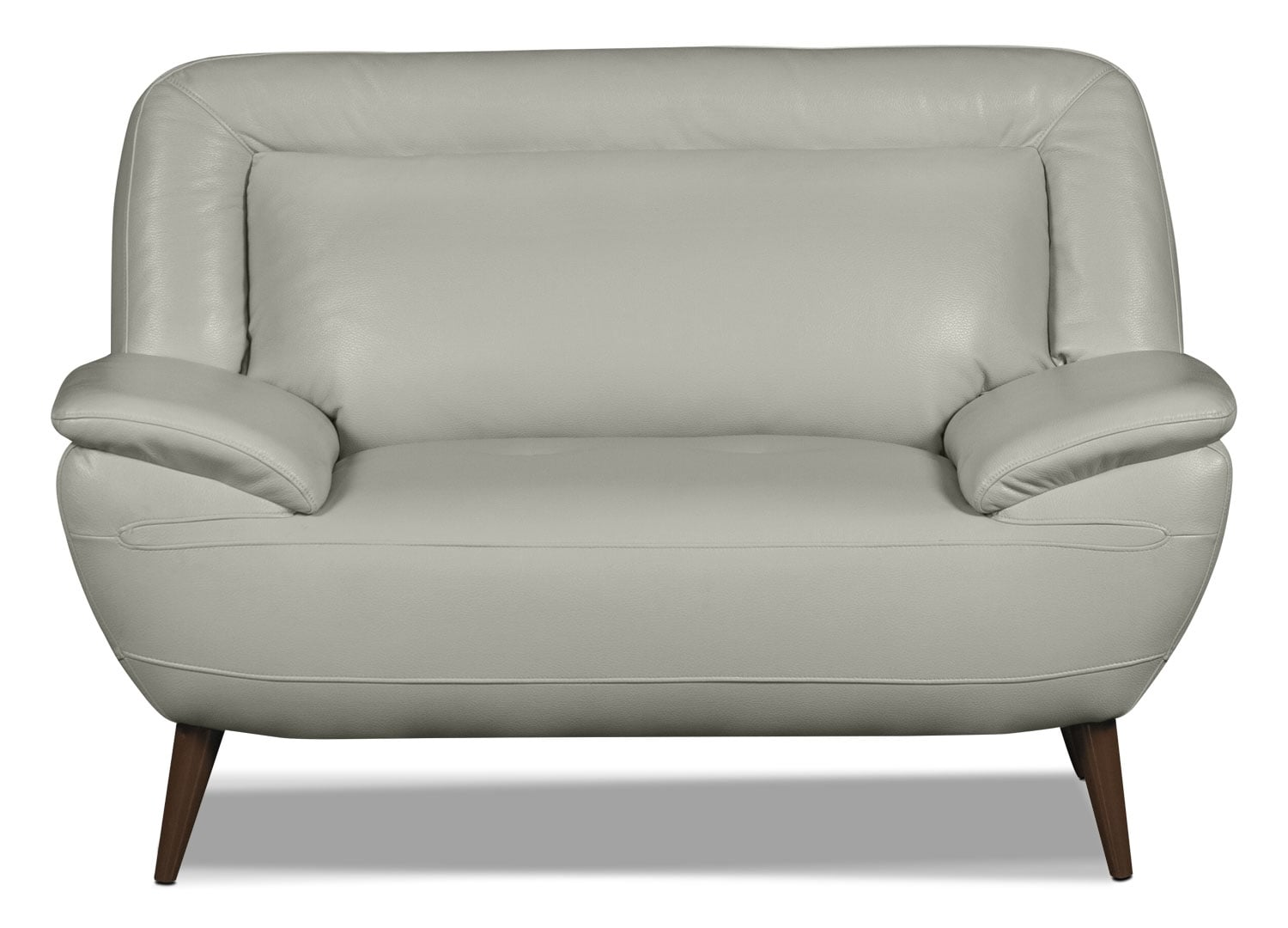 Roxy Leather-Look Fabric Chair-and-a-Half - Beige