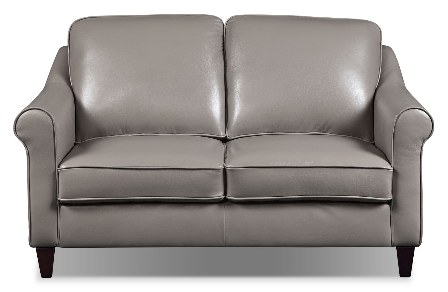 Living Room Furniture - Lexa Genuine Leather Loveseat – Taupe