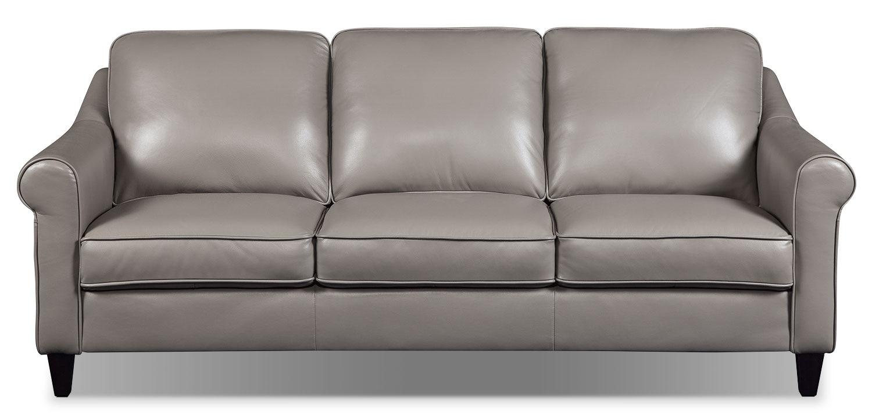Lexa Genuine Leather Sofa – Taupe