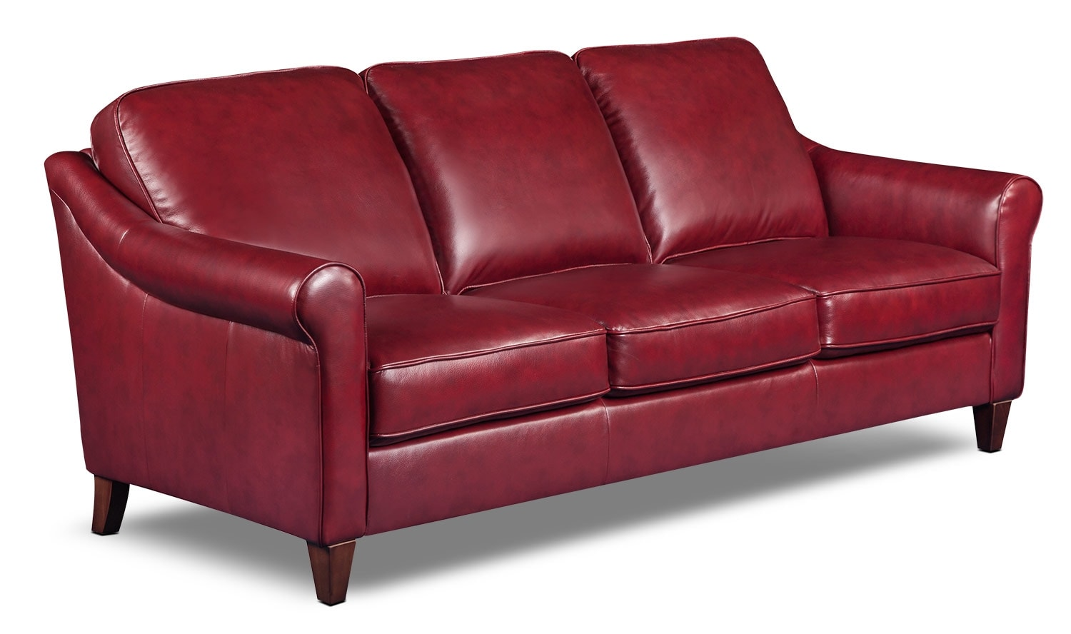 Living Room Furniture - Lexa Genuine Leather Sofa – Burgundy