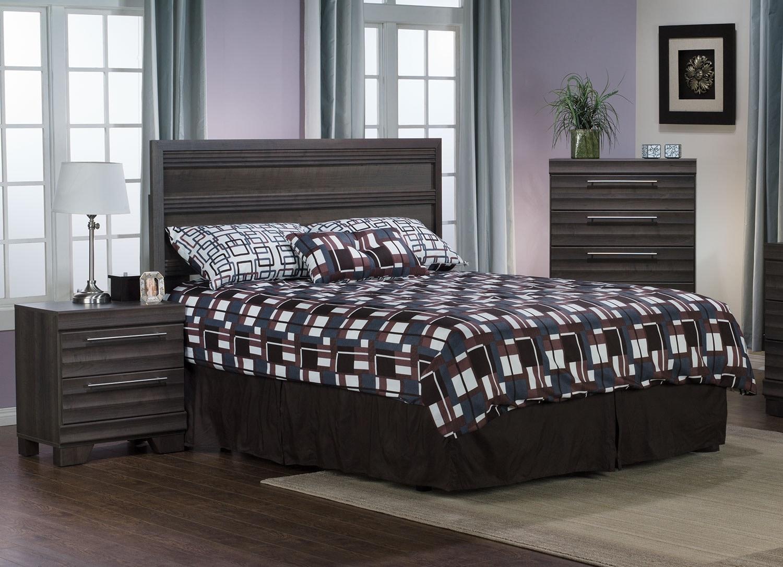 Olivia 3-Piece Queen Bedroom Package – Grey