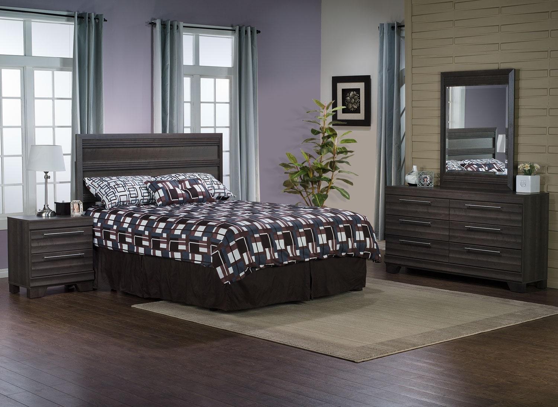 Olivia 4-Piece Queen Bedroom Package – Grey