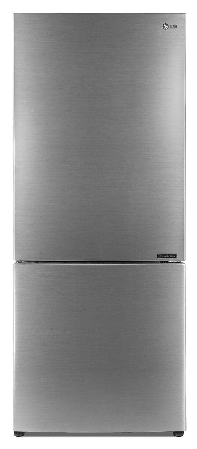 LG 15 Cu. Ft. Bottom-Mount Refrigerator with SmartDiagnosis™ – Stainless Steel