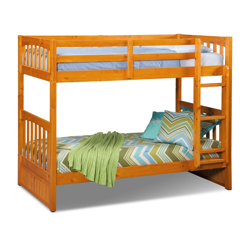[Ranger Pine Twin/Twin Bunk Bed]