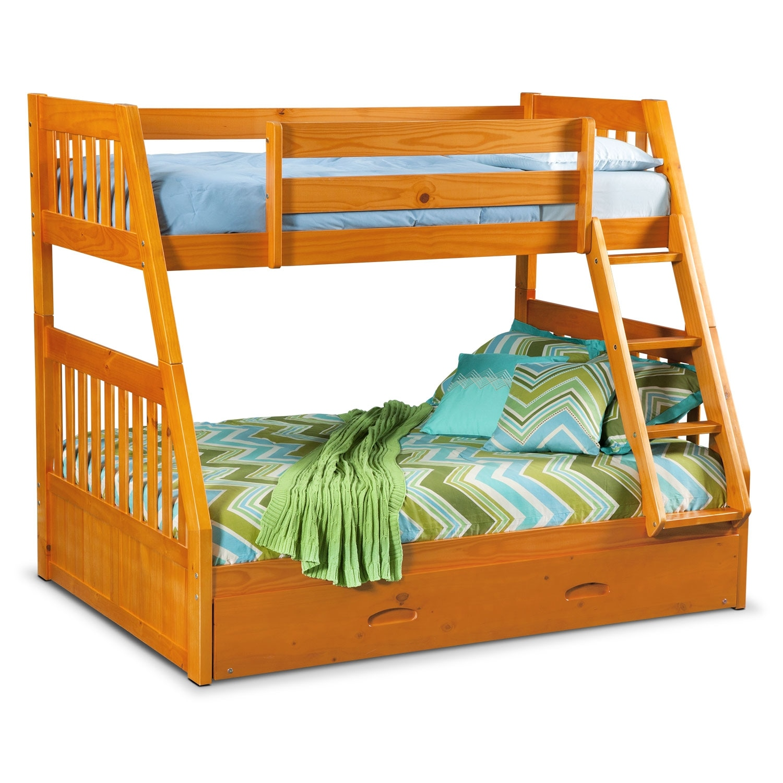 ranger pine bunk bed w trundle value city
