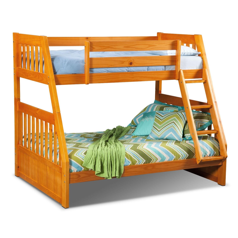 [Ranger Pine Twin/Full Bunk Bed]
