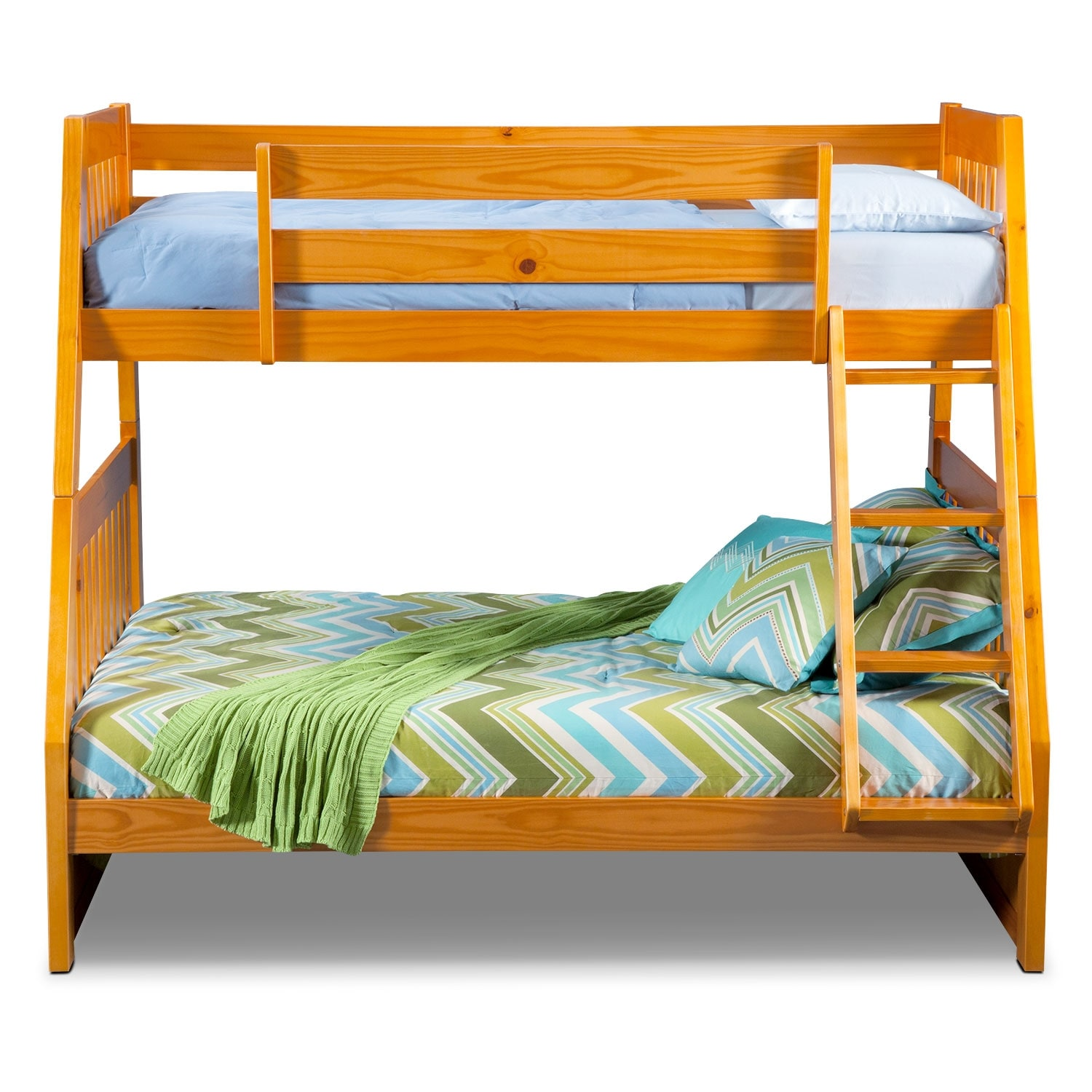 ranger twin over full bunk bed pine american signature furniture. Black Bedroom Furniture Sets. Home Design Ideas