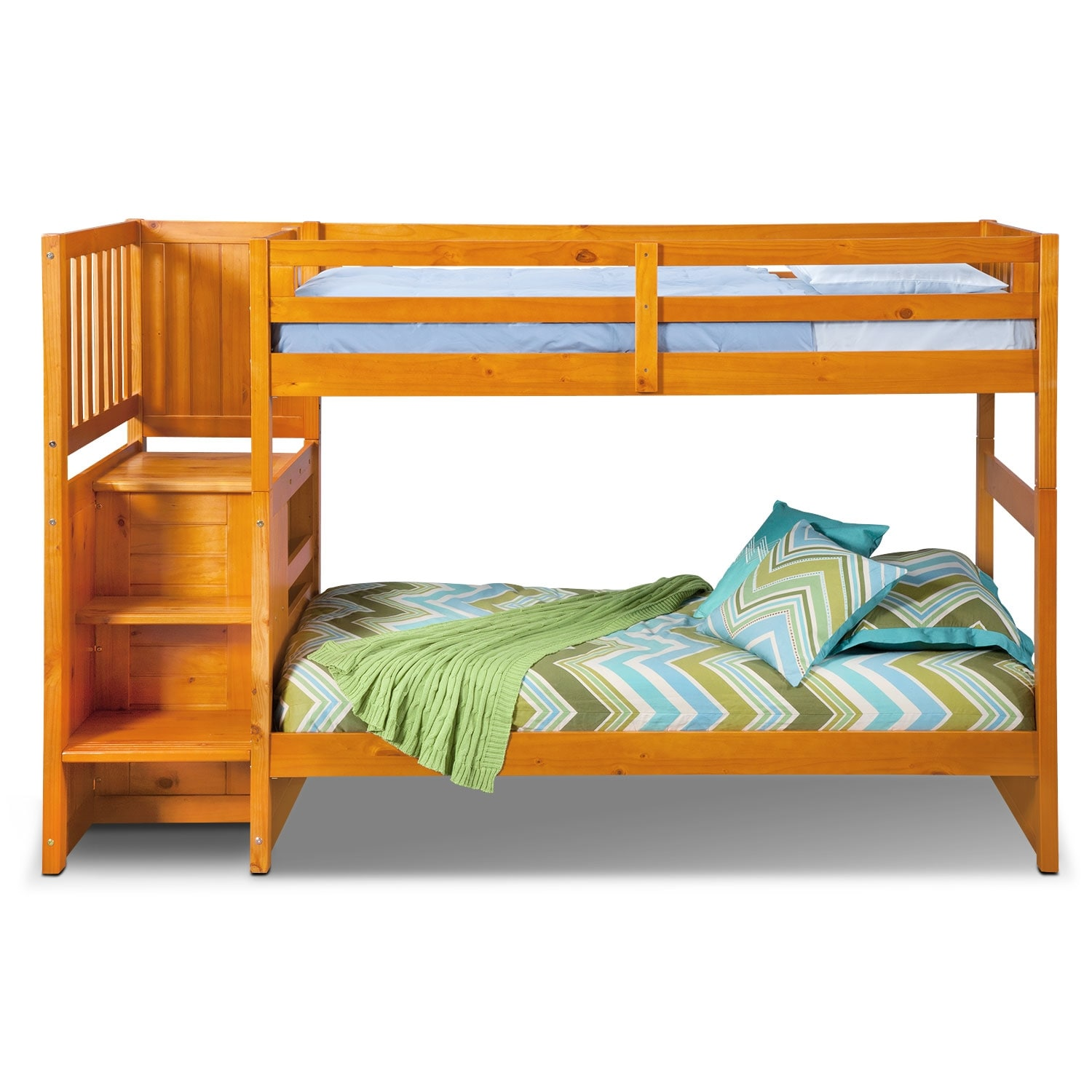 loft bed with storage ranger bunk bed with storage stairs pine 31101