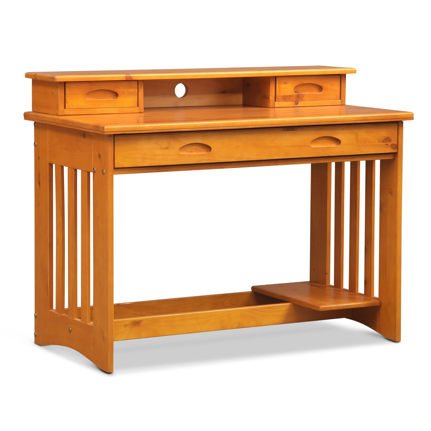 [Ranger Pine Desk with Hutch]