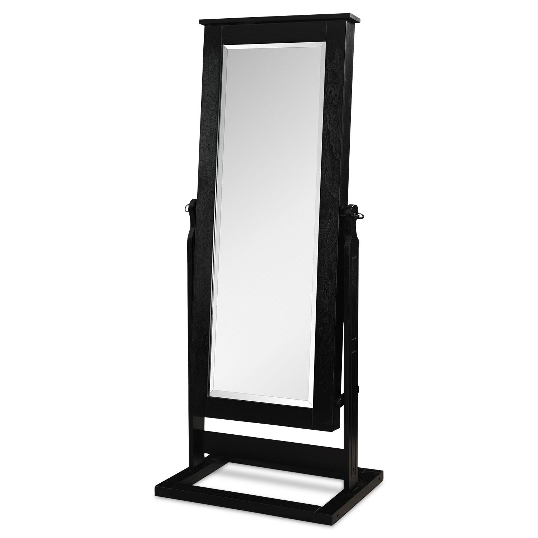 [Perrie Cheval Storage Mirror - Black]