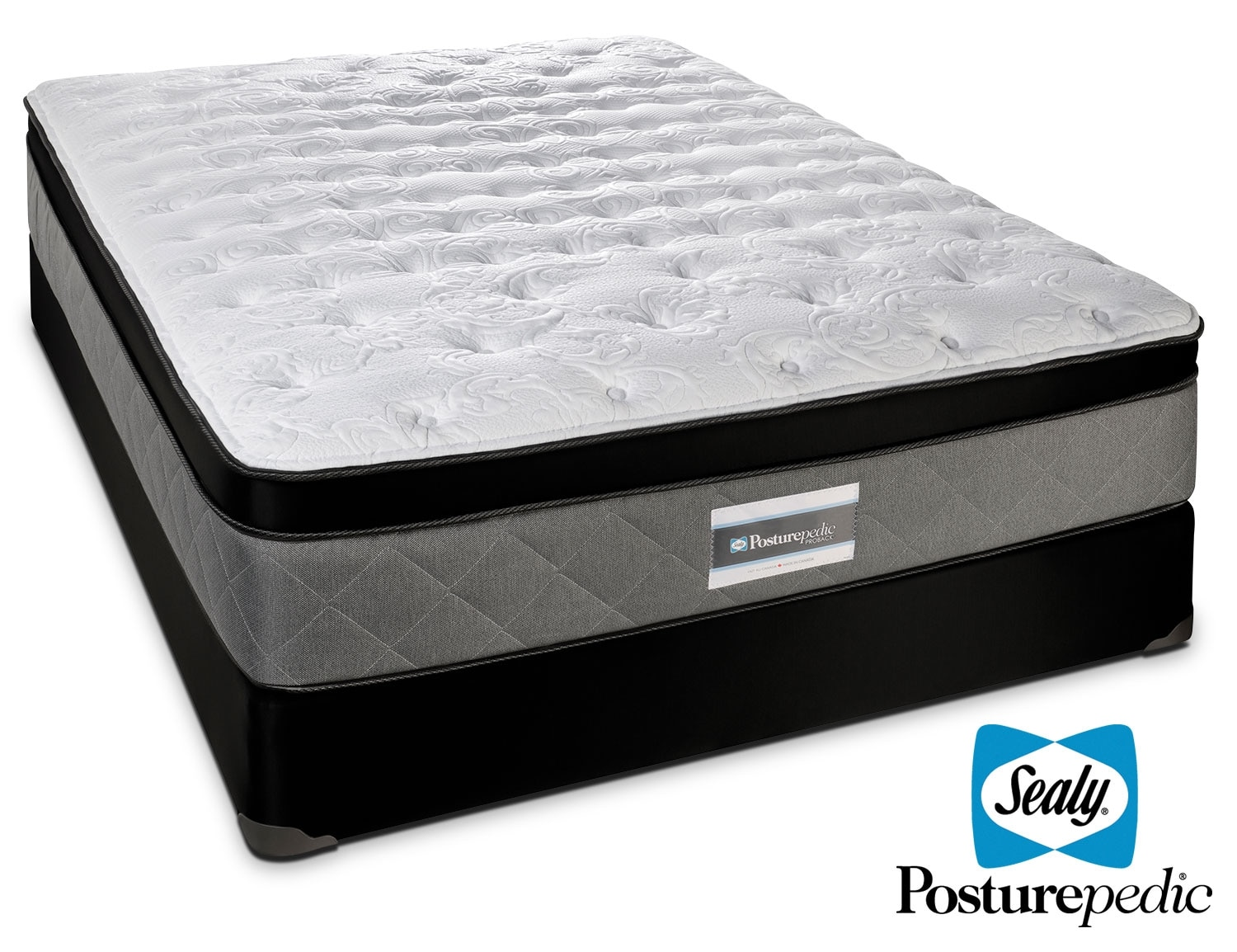 Mattresses and Bedding - Sealy Scripture Firm Queen Mattress/Boxspring Set