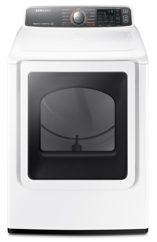 Samsung White Electric Dryer (7.4 Cu. Ft.) - DV48J7770EW/AC