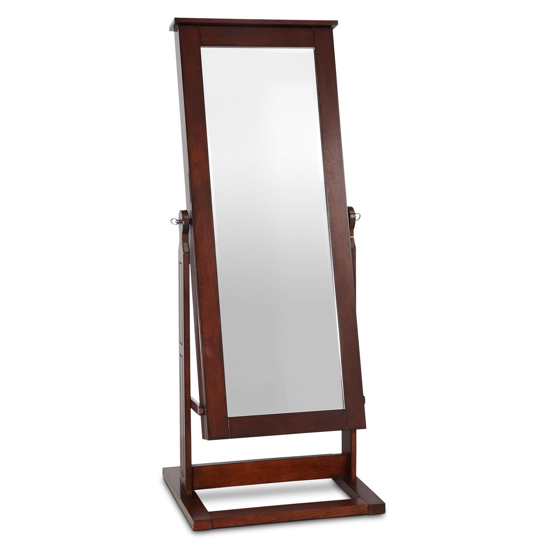 [Perrie Cheval Storage Mirror - Walnut]