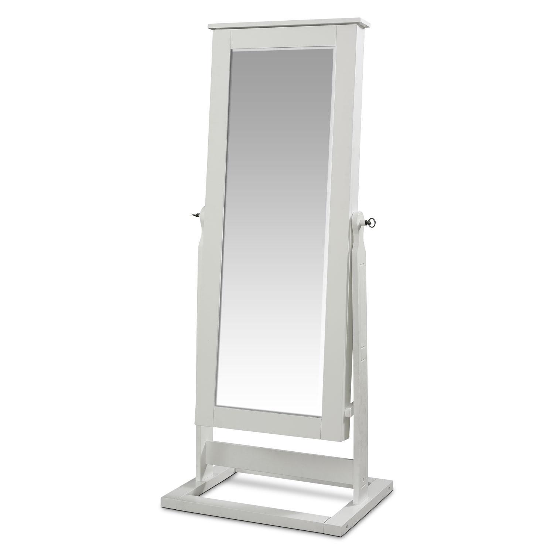 [Perrie Cheval Storage Mirror - White]