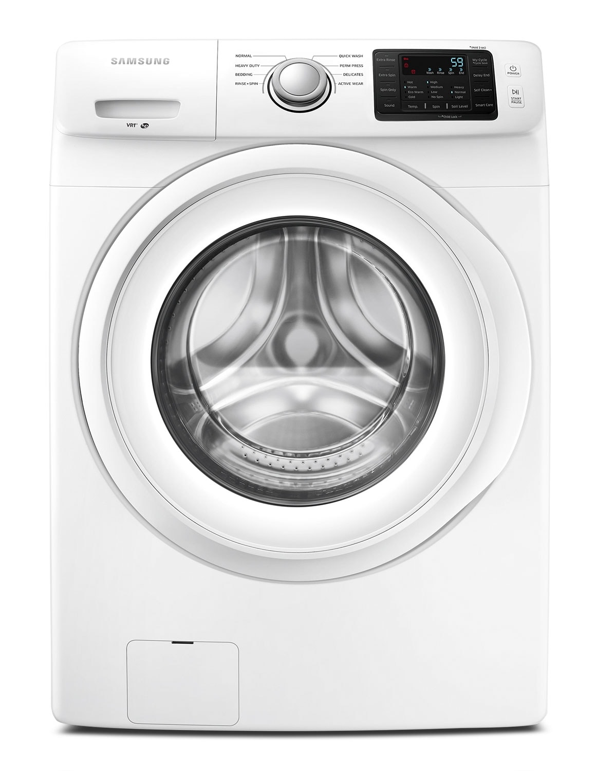 Washers and Dryers - Samsung White Front-Load Washer (4.8 Cu. Ft. IEC) - WF42H5000AW