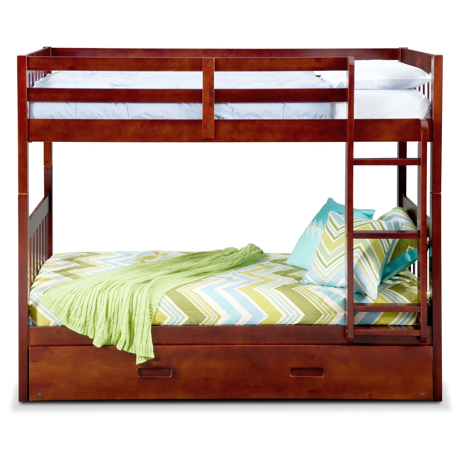 ranger merlot bunk bed with trundle value city