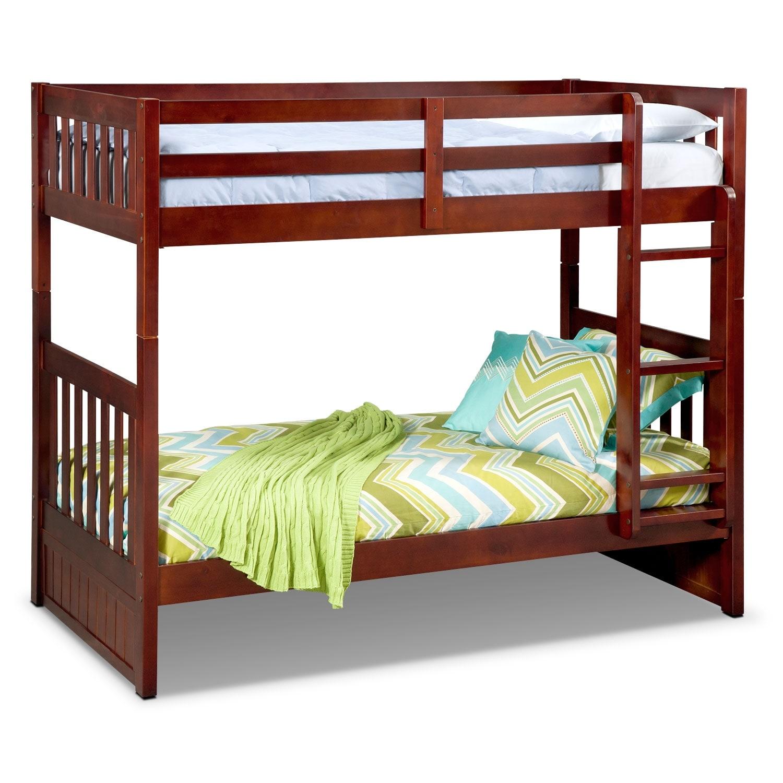 [Ranger Merlot Twin/Twin Bunk Bed]