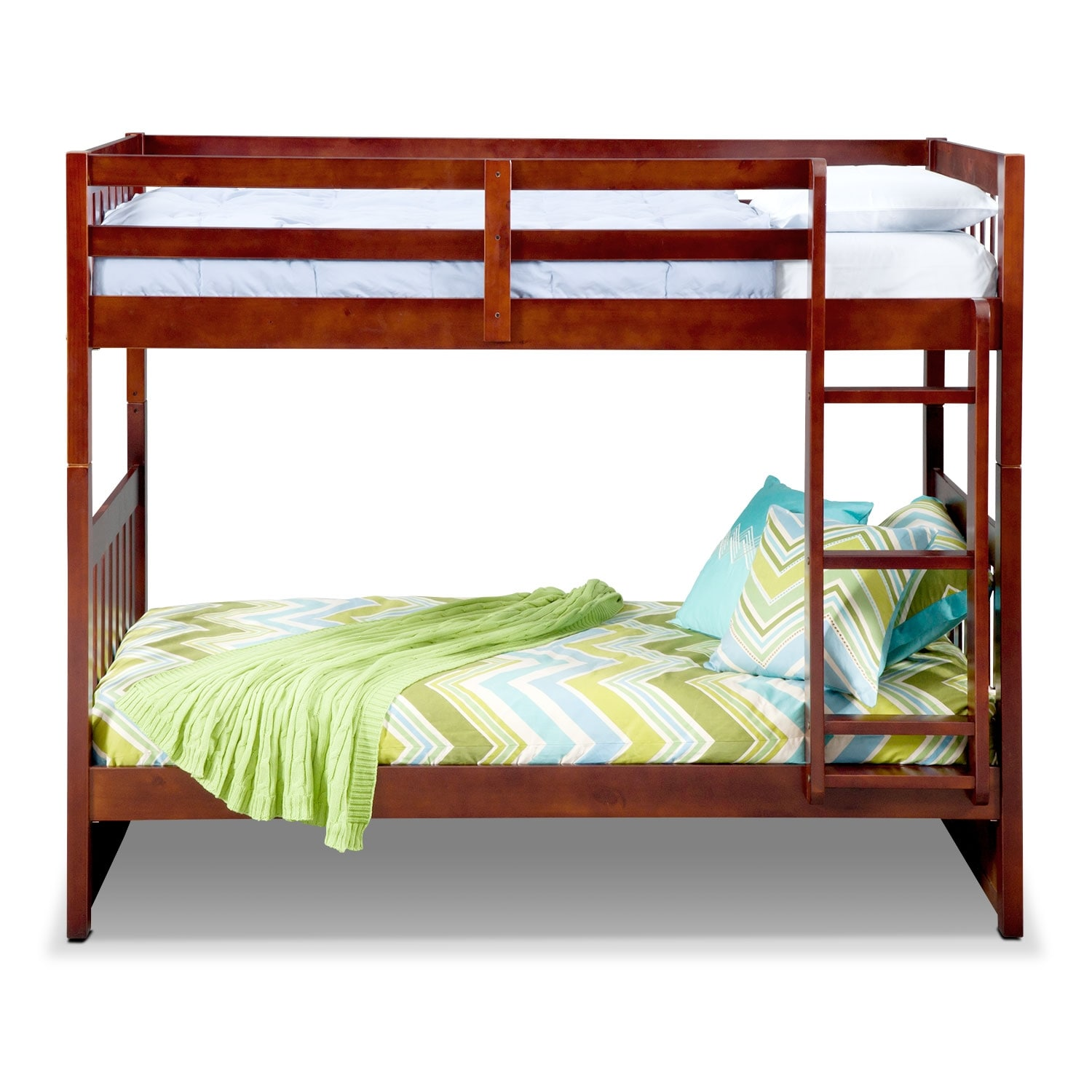 Ranger Twin Over Twin Bunk Bed Merlot Value City Furniture