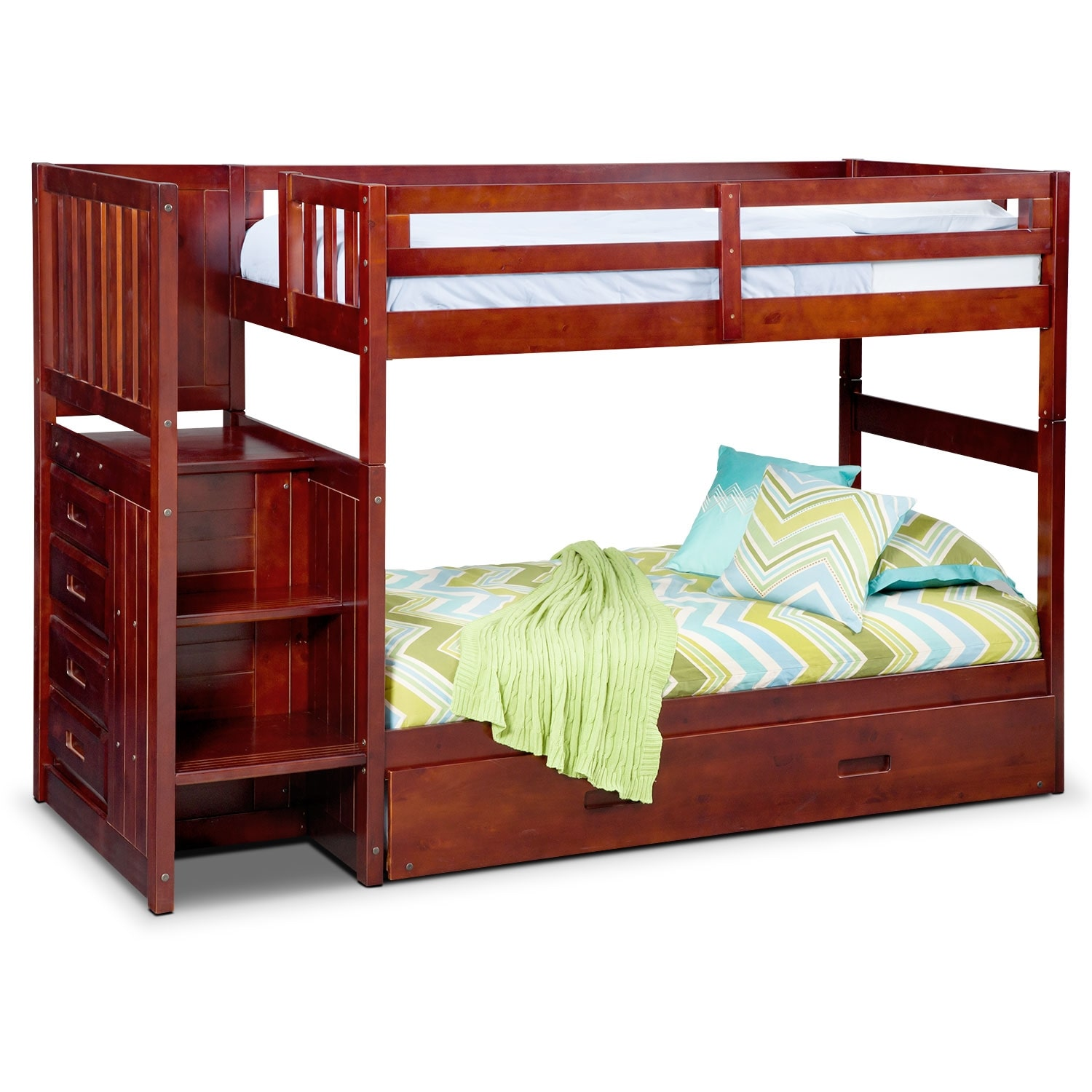 Ranger twin over twin bunk bed with storage stairs and for Loft furniture