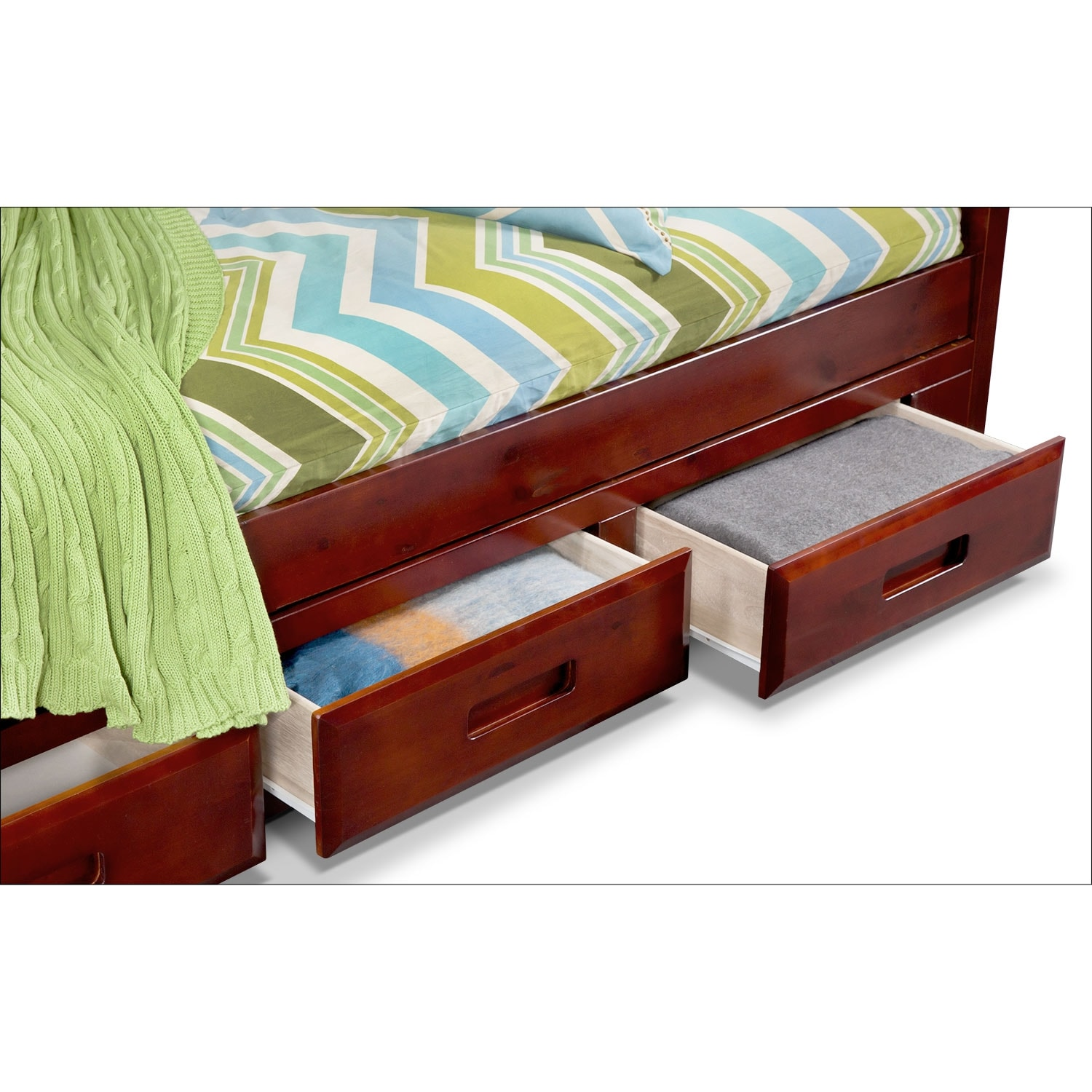Ranger twin over twin bunk bed with storage stairs for Twin bed with drawers