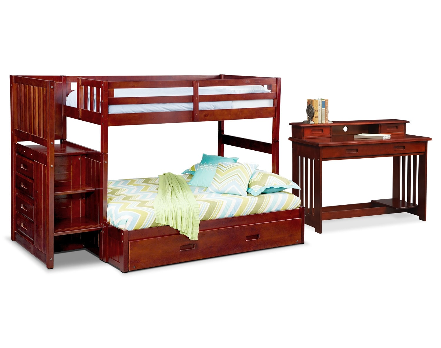 [The Ranger Merlot Bunk Bed Collection]