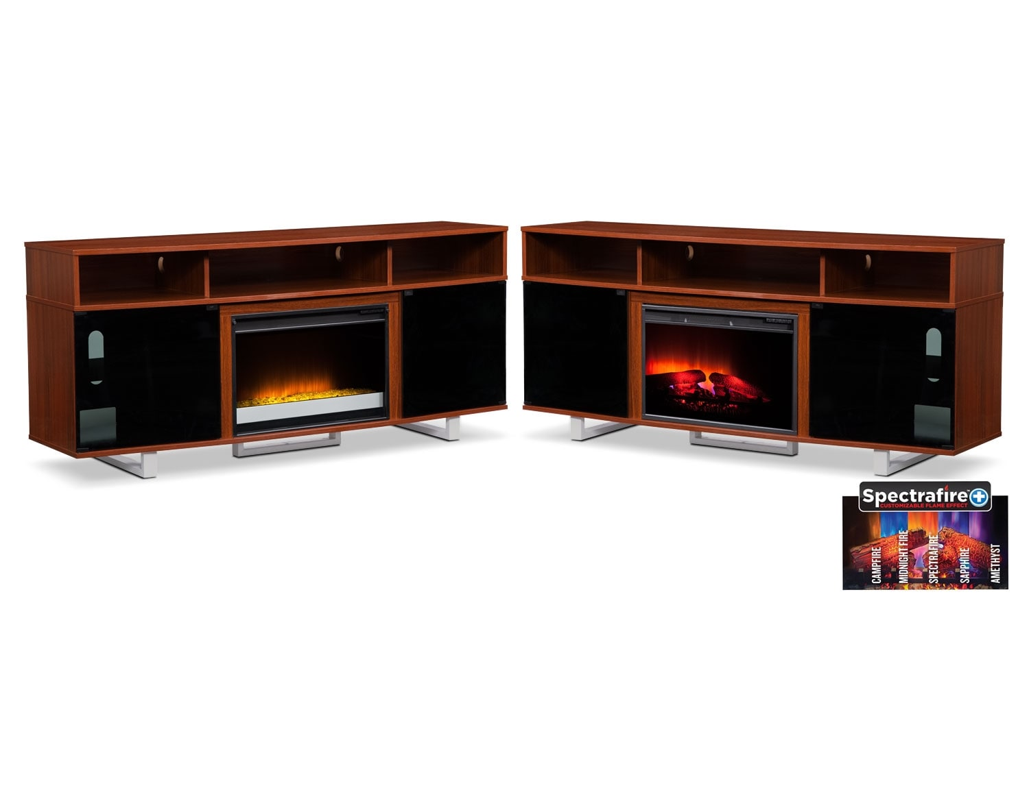 [The Pacer Cherry Media Fireplace Collection]
