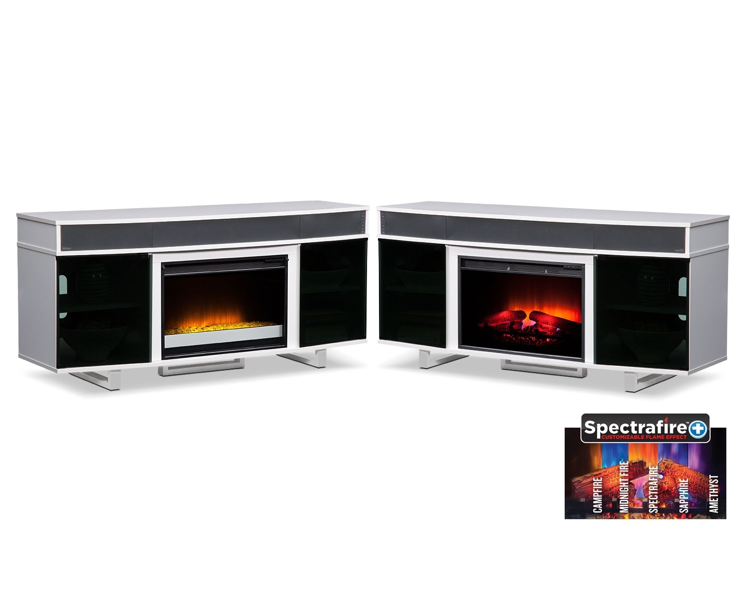 [The Pacer White Media Fireplace Collection]