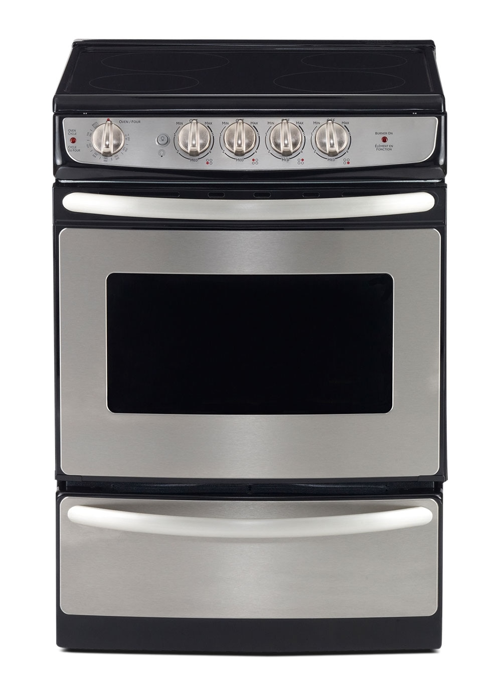 Cooking Products - GE Stainless Steel Slide-In Electric Range (3.0 Cu. Ft.) - JCAS445SVSS