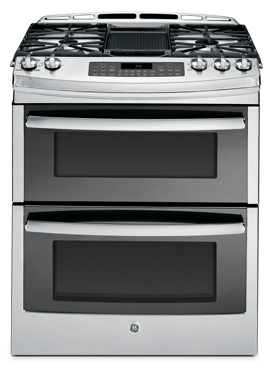 Cooking Products - GE Stainless Steel Slide-In Gas Range (6.8 Cu. Ft.) - PCGS950SEFSS