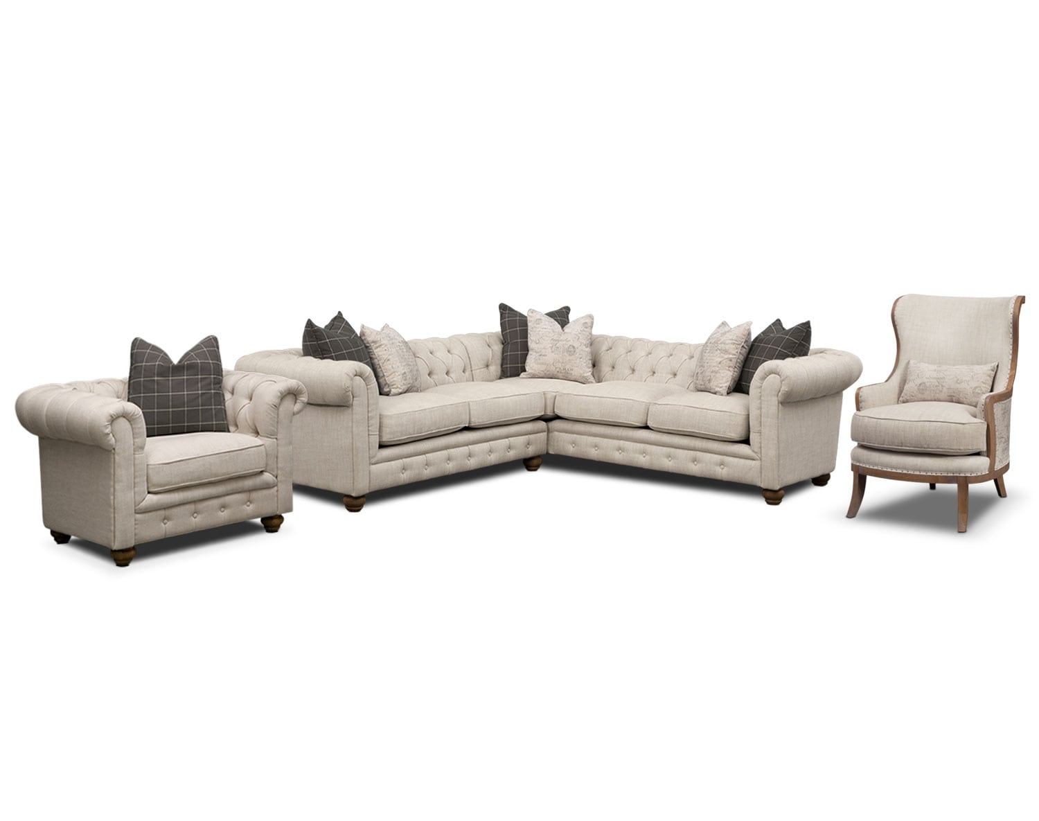 [The Madeline Beige Sectional Collection]