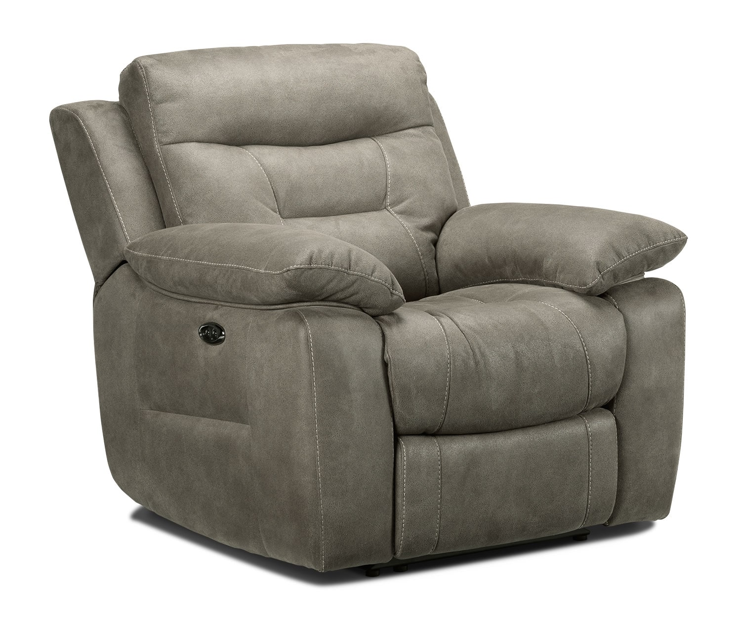collins power reclining chair silver