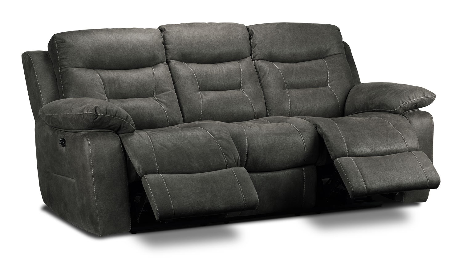Collins Power Reclining Sofa Charcoal Grey Leon 39 S
