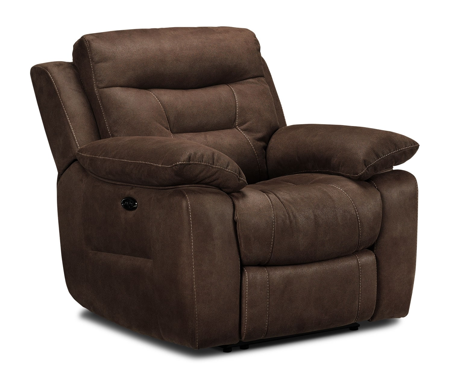 Living Room Furniture - Collins Power Recliner - Walnut