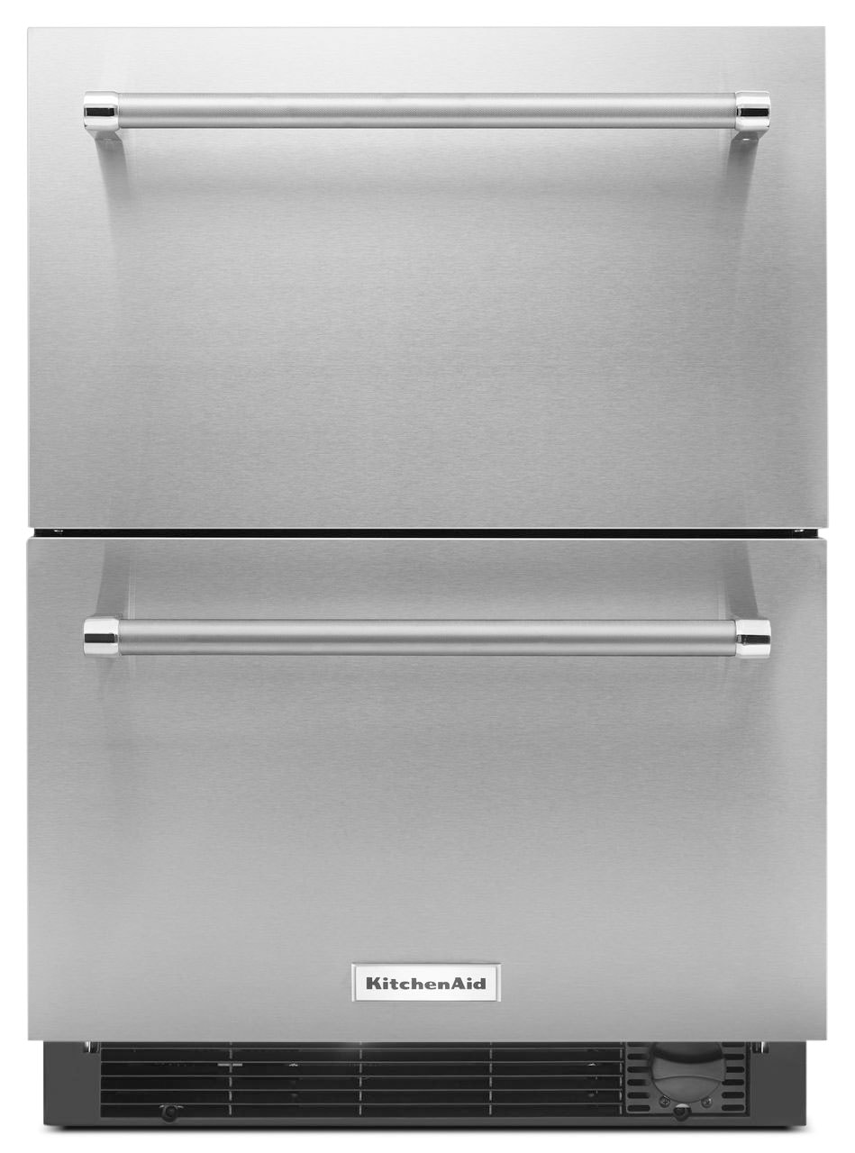 KitchenAid 4.7 Cu. Ft. Refrigerator and Freezer Drawer – Panel Ready KUDF204ESB