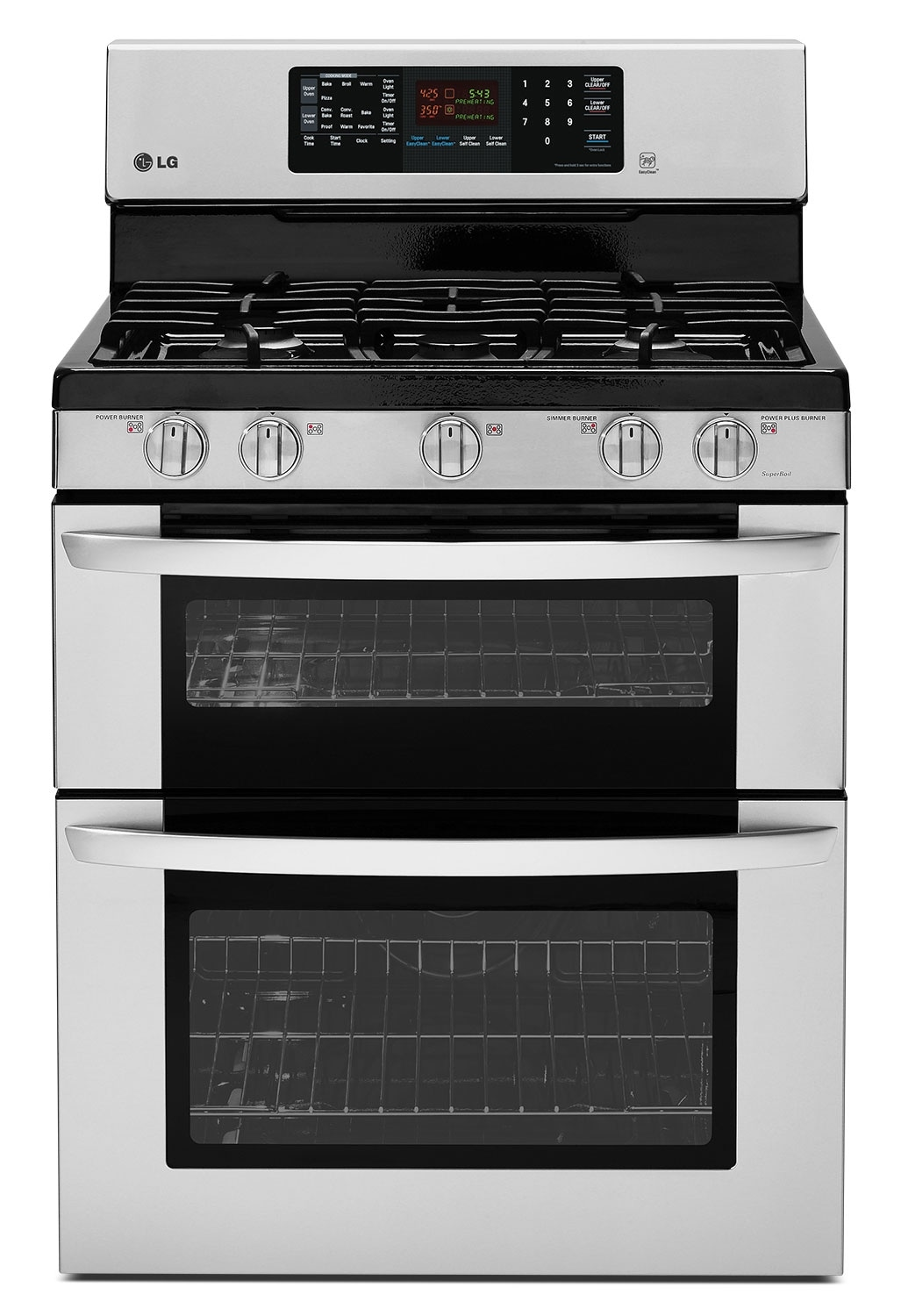 LG 6.9 Cu. Ft. Gas Range with Double Oven – Stainless Steel