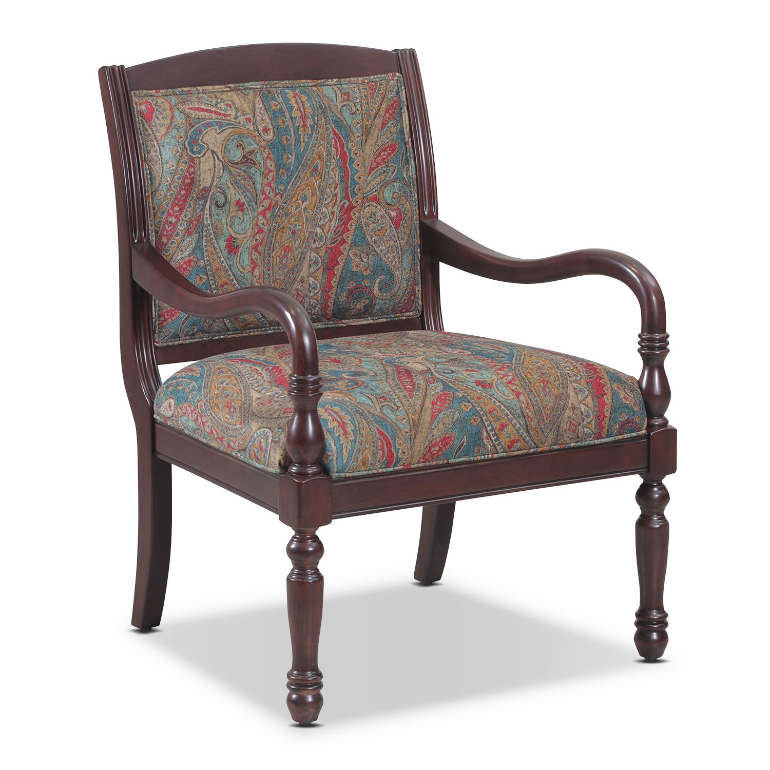 Cadence Accent Chair Paisley American Signature Furniture