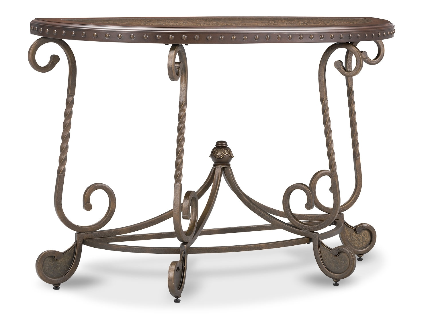 Accent and Occasional Furniture - Cordoba Sofa Table – Dark Brown
