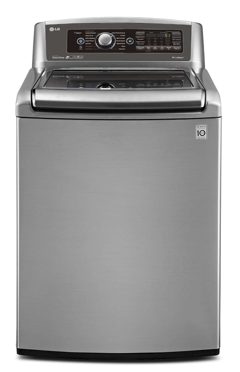 Washers and Dryers - LG Graphite Steel Top-Load Washer (6.1 Cu. Ft. IEC) - WT5680HVA