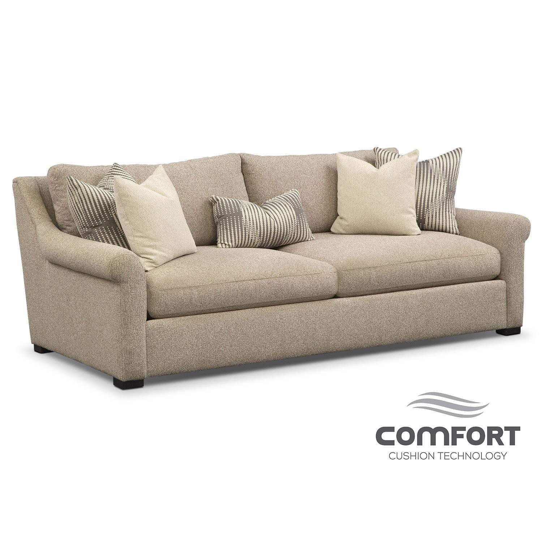 Robertson comfort sofa beige american signature furniture for Comfort living furniture