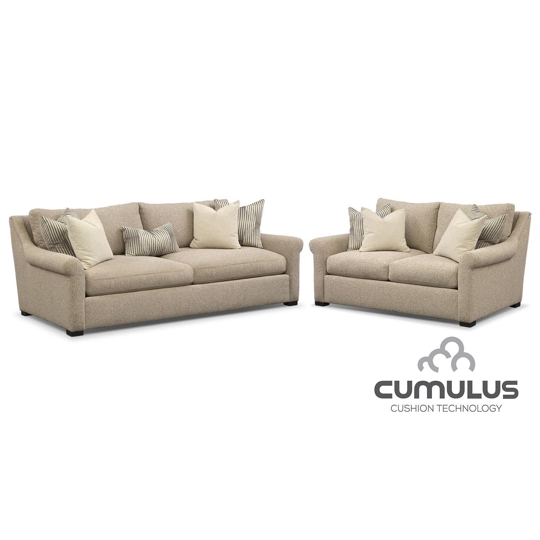 Living Room Furniture - Robertson Cumulus 2 Pc. Living Room Package